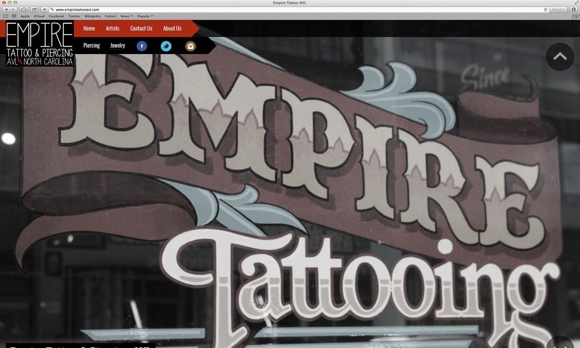 Empire Tattoo Ashville, NC Website