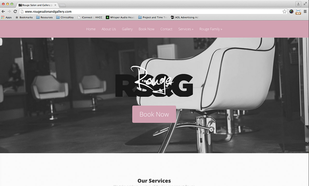 Rouge Salon and Gallery Website