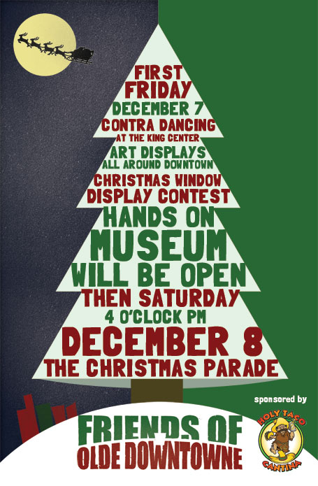 First Friday Poster Christmas