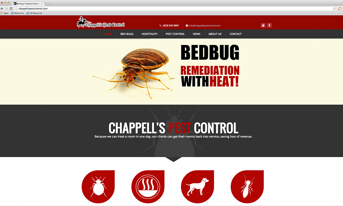 Chappells Pest Control Website